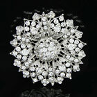Large Huge flower Garland Alloy Mixcolor Brooch Pin Fashion women party Proms