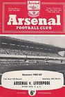 ARSENAL HOME PROGRAMMES 1962-63 ~ YOU CHOOSE OPPONENTS FREE POST GOOD CONDITION