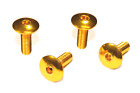 Gold Aluminum Motorcycle Dome Bolts Screw for Windscreen 1 2 4 6 8 10 PC