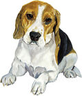 Beagle Hound Dog Lover Home Office Decor Decal Art Gift Sticker Stocking Stuffer