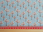 Winter Trees on blue background / 100% cotton Fabric material quilting patchwork