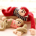 cute long arms monkey love stripe T-shirt papa monkey creative birthday gift 1pc