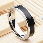 Fashion Jewelry Black Titanium Band Stainless Steel Ring For Men Women