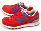 New Balance ML574WTR D Red & Blue & White Retro Lifestyle Suede Classic Casual