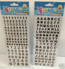 Alphabet Capital Letters Self Adhesive Stickers 10mm & 13mm Black Gold Edge