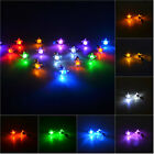 Unisex LED Five-pointed star Earrings Light Up Crystal Stainless Ear Drops 2PCS