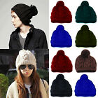 Chic New Hot Winter Warm Women Men Knit Ski Beanie Ball Wool Cuff Hat Ski Cap