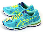 Asics Lady GEL-Kayano 22-Wide Ice Blue/Flash Yellow/Blue Running TJG738-4407