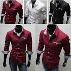 K New Designer Pocket Stylish Luxury Mens Slim Fit Tops Casual Formal Shirts Hot