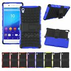 Dual Layer Rugged Armor Hybrid Cover Protective Case Stand For Sony Xperia Z4