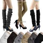 K0E1 Women's Fashion Knit Crochet Winter Leg Warmer Leggings Socks Ball 6 Colors