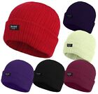 Mens 3M Thinsulate Insulated Fully Fleece Lined Hats Beanie Winter Thermal hat