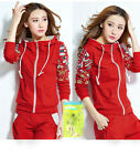 fashion Women's Clothing Autumn winter Thicken leisure sportswear coat suit