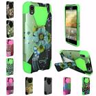 For ZTE Warp Elite N9518 New Design Hybrid TSTAND Cover Case