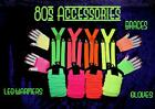 ULTIMATE 80S NEON  LEG WARMERS FISHNET FINGERLESS GLOVES BRACES free tattoos