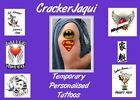 SUPERMAN  BATMAN LG 10cm TEMPORARY TATTOO fancy dress super man bat fancy dress