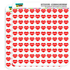 """1/2"""" (0.5"""") Scrapbooking Crafting Stickers I Love Heart Names Male E Eamo"""