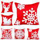 Hot Modern Home Decor Cotton Canvas Embroidered Case Sofa Throw Cushion Cover B9