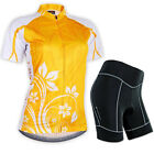 Women's Breathable Cycling Jersey Bicycle Clothing Short Sleeve Suit Short Set
