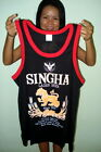ALL COLORS & SIZES - SINGHA BEER TANK SINGLET SHIRT TOP THAILAND