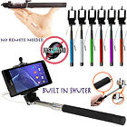SELFIE STICK MONOPOD WITH AUX CABLE AUXILIARY FOR MOTOROLA MOTO G2 2 GENERATION