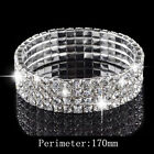 Fashion Jewelry 18K White Gold Plated Swarovski Elements 4-row Crystal Bracelet