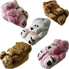 Ladies Teddy Bear Novelty Faux Fur Funny Soft Warm Christmas Present  Slippers