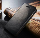 iPhone X & 8/7/6s Plus Genuine Leather Wallet Card Holder Flip Stand Case Cover