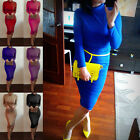 Hotly Women's Long Sleeve Winter Turtleneck Bandage Bodycon Club Party Dress