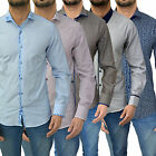 Mens Swade Shirt Designer Branded Fashion Dress Casual Slim Fit Formal Luxury