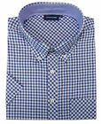 ESPIONAGE Cotton Blend Short Sleeve Check Shirt(177),Size 2XL-8XL,6 Options
