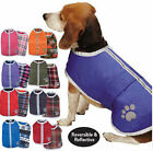 Reversible Blanket Dog Coat Winter Jacket Reflective Noreaster Water Resistant