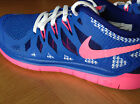 D'origine Enfants Nike Free Run 5.0 GS Basket Course BLEU UK 4-5.5 NEUF