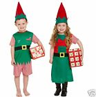 Santas Little Helper Costume Toddler Boy or Girl Christmas Elf Outfit 2-4 years