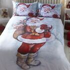 TRADITIONAL SANTA CLAUSE,QUILT/DUVET COVER SET,FESTIVE BED LINEN.LOVELY QUALITY
