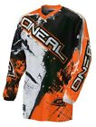 Oneal Adult 2016 MX ATV Motocross Shocker Black/Orange Jersey S-2XL