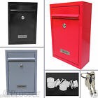 Lockable Heavy Duty Secure Wall Mounted Letter Mail Post Box Stainless Steel UK
