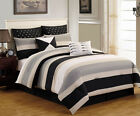 12 Piece Preston Black and Gray Bed in a Bag w/500TC Cotton Sheet Set