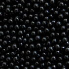 Black Edible Sugar Pearls Dragees Decoration Balls, 4mm