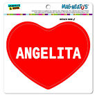 MAG-NEATO'S™ Car Refrigerator Vinyl Magnet I Love Heart Names Female A Amar