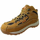 Mens Cheap Siterover Safety Steel Toe Hiking Work Leather Ankle Boots Size 6 7