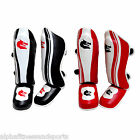 Morgan Shin Instep Leather Foot Pads MMA UFC Leg Kick Guards Muay Thai Boxing