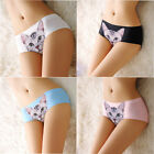 Womens soft SEXY Panties Anti Emptied 3D Cat Printing Seamless Briefs Underpants
