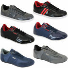 Mens Trainers Rawcraft Shoes Sneakers Leather Look Mesh Lace Up Quilted Designer