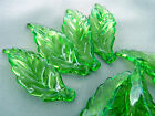 14x40mm 20/../200pcs CLEAR GREEN LEAF ACRYLIC PLASTIC LOOSE BEADS TY3989