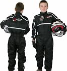 GO - Kart One Piece RACE SUIT Overalls Karting Quilted Polycotton - BLACK