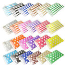 Striped / Polka Dot / Pattern Sweet Paper Candy Bags Sweets Wedding Gift Shop