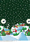 CHRISTMAS NIGHT GREEN VINYL PVC OILCLOTH WIPE CLEAN TABLECLOTH click for sizes