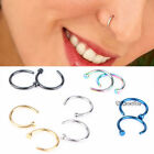 Fahison Nice Stainless Steel Nose Open Hoop Ring Earring Body Piercing Studs CUB
