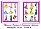 DISNEY PRINCESS NEW X9 temporary Kids TATTOOS  waterproof  LAST1WEEK+  tattoo